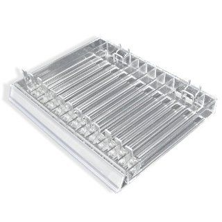 Azar 225513 13 Compartment Cosmetic Tray with Spring Load Pushers