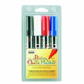 Uchida 480 4C Marvy Broad Point Tip Basic Bistro Chalk Marker Set
