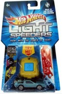 Hot Wheels Light Speeders, Back To The Future, Time Machine DeLorean. 164 Scale. Toys & Games