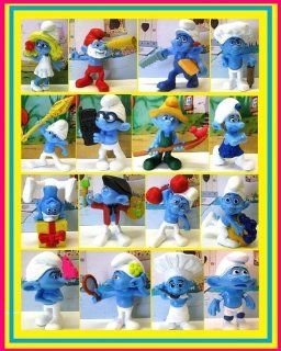 2011 SMURFS THE MOVIE EXCLUSIVE FIGURE SET OF 16 SMURF CHARACTER TOYS: Toys & Games