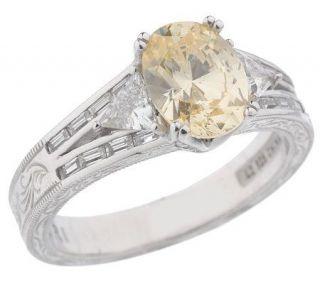 Tacori IV Diamonique Epiphany Oval Canary Ring —