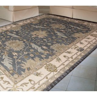 Nourison Hand tufted Caspian Blue Wool Rug (5' x 8') Nourison 5x8   6x9 Rugs
