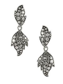 Ayu Dot Silver Leaf Drop Earrings by John Hardy