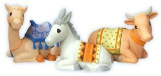 "Precious Moments ""Mini Nativity Animal Set"" 3 Pieces Camel, Donkey, Ox / Cow 101045   Collectible Figurines"