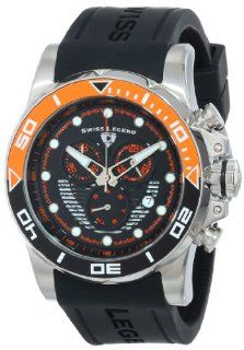 Swiss Legend Men's 21368 01 ORAB Avalanche Chronograph Black Dial Silicone Band Watch Watches