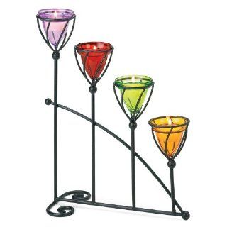 Shop Gifts & Decor Jewel Toned Colored Glass Candleholder Candle Holder at the  Home D�cor Store. Find the latest styles with the lowest prices from Gifts & Decor