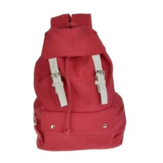 P&l&#8482 Fashion Cute Girl Casual Punk Canvas Shoulder Bag Backpack Satchel School Book Mothers Day Gifts (Red) Shoes