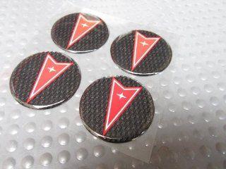 Set of Four Pontiac Logo Hub Cap Wire Alloy Wheels Center Stickers Decals   2 Inch Diameter Automotive