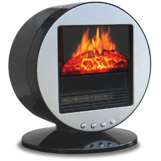 Quality Craft DS502 SL Desktop Electric Stove Heater, Silver   Desktop Electric Fireplace