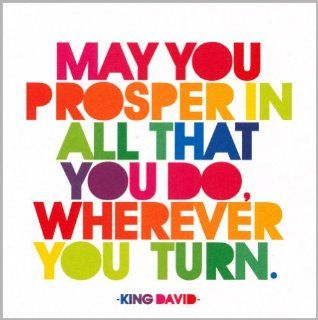 Encouragement Greeting Card May You Prosper   King David Health & Personal Care