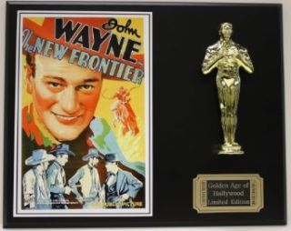New Frontier, John Wayne LTD Edition Oscar Movie Poster Display Entertainment Collectibles