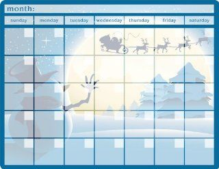 Christmas Monthly Calendar Memo Board Automotive