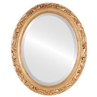 Shop Ornate wood Oval Beveled Wall Mirror in a Gold Rome style Gold Paint Frame 16x20 outside dimensions at the  Home D�cor Store. Find the latest styles with the lowest prices from OvalAndRoundMirrors