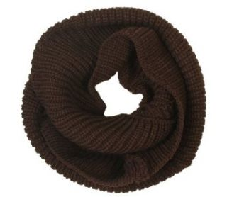 niceEshop New Arrival Fashion Women Lady Girls Women Warmer Thick Knit Wool Soft Infinity Neck Long Loop Circle Ring Scarf Cowl Hood Shawl Neckerchief (Coffee) Ski Helmets