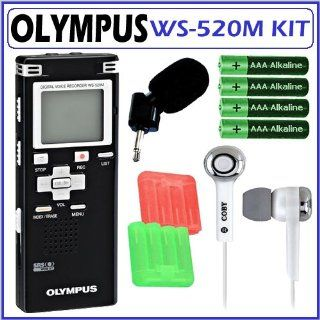 Olympus WS 520M 8GB Digital Voice Recorder + Accessory Kit Electronics