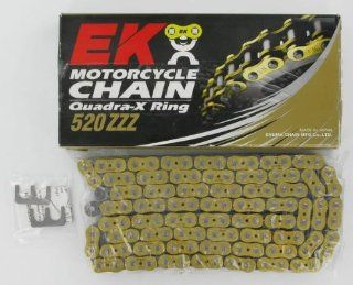 EK Chain 520 ZZZ Series Chain   120 Links   Gold, Chain Type: 520, Chain Length: 120, Color: Gold 520ZZZ 120/MG: Automotive