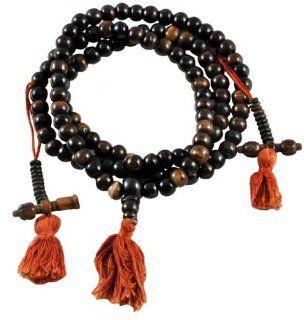 Premium Quality Tibetan 8mm Dark Yak Bone Prayer Beads, Tibetan Mala, Yak Bone Necklace, #6 Jewelry