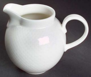 Villeroy & Boch Tipo White Creamer, Fine China Dinnerware   White Dots/Lattice O