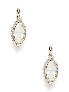 White Opal Crystal Drop Earrings by Elizabeth Cole