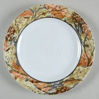 Corning Woodland Leaves Luncheon Plate, Fine China Dinnerware   Impressions,Brow