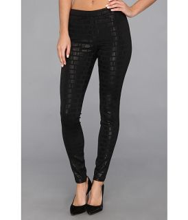 HUE Satin Geo Print Legging Black