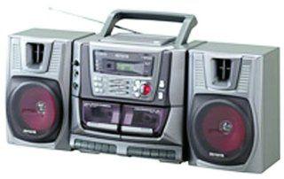 Aiwa CD/Cassette Boombox with Digital Tuner and Detachable Speakers (CA DW539): Electronics