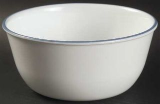 Corning Infinia Super Soup/Cereal Bowl, Fine China Dinnerware   Blue Edge,All Wh