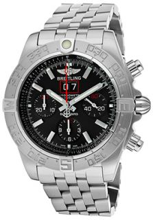 Breitling A4436010 BB71 SS  Watches,Mens Windrider/Blackbird Auto/Mechanical Chronometer Chrono Black Dial Stainless Steel, Chronograph Breitling Automatic Watches
