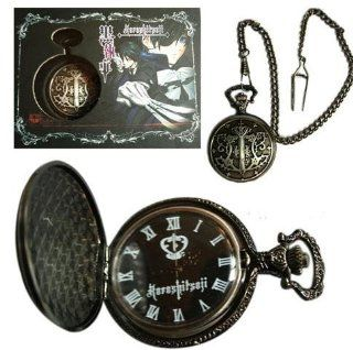 Black Butler / Kuroshitsuji Pendant Necklace Pocket Watch with box: Watches