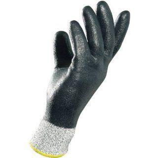 "MAPA Krynit 559 Nitrile Heavy Duty Glove, Cut Resistant, 9 1/2"" Length, Size 10, Black Cut Resistant Safety Gloves Industrial & Scientific"