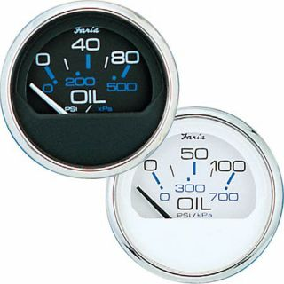 Faria Chesapeake SS Instruments   Oil Pressure Gauge (0 80 psi) 79544
