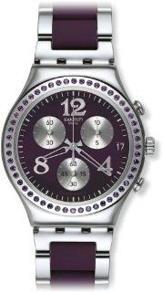 Swatch YCS573G Secret Thought Aubergine Chrono Purple/Silver Unisex Watch NEW at  Men's Watch store.