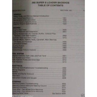 Case 580 Super E Loader/Backhoe OEM Service Manual Case 580 Books