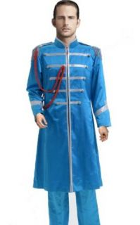 The Beatles Cosplay Costume Sgt. Pepper Paul McCartney Jacket Pants, Blue, Men XX Large Adult Sized Costumes Clothing