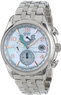 Citizen Women's FC0000 59D World Time A T Eco Drive Mother Of Pearl Dial Watch: Watches