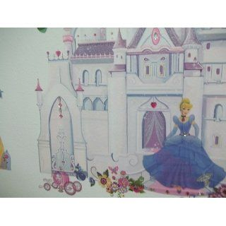 Roommates Rmk1546Gm Disney Princess Glitter Castle Peel & Stick Giant Wall Decal: Home Improvement