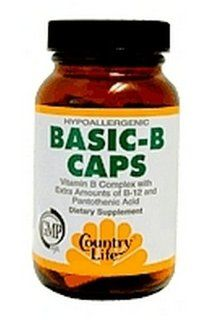 Country Life Basic B Capsules, 25 mg B Complex, 60 Capsules Health & Personal Care