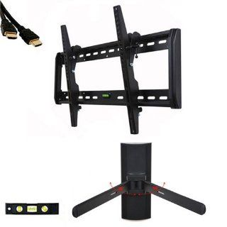 "VideoSecu Tilt TV Wall Mount for Most 32"" 55"" Plasma LCD LED TV Flat Panel Display with DVD DVR VCR Wall Mount MF607BK M24 Electronics"