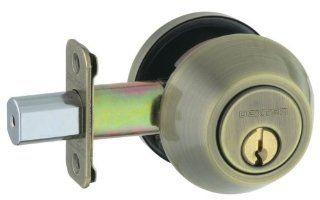 Dexter by Schlage JD62V609 Double Cylinder Deadbolt, Antique Brass   Antique Brass Double Cylinder Lock