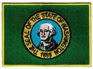 Washington State Flag Embroidered Patch Iron On WA Emblem Clothing