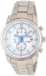 Citizen Men's CA0330 59A Eco Drive Stainless Steel Chronograph Watch at  Men's Watch store.
