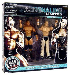 WWE Wrestling Exclusive Adrenaline Limited Series 10 Action Figure 2 Pack Batista and Shawn Michaels Toys & Games