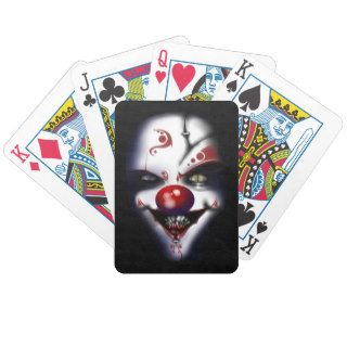 Replacement Surgeon   Evil Clown Bicycle Poker Cards