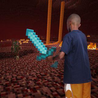 Minecraft Foam Diamond Sword