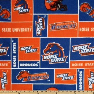 Collegiate Cotton Broadcloth Boise State Orange/Blue Fabric