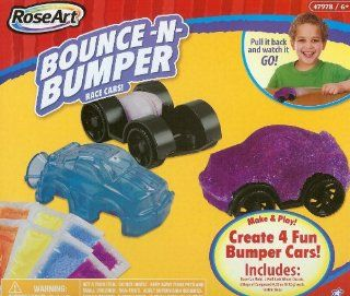 Rose Art Bounce and Bumper Race Cars ~ Make 4 Bumper Cars From 1 Kit ~ Fun for Ages 6+: Toys & Games