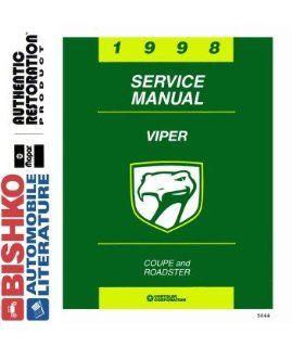 1998 Dodge Viper Shop Service Repair Manual CD Engine Drivetrain Wiring OEM Automotive