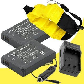 Two LI 50B Lithium Ion Replacement Battery w/Charger and Waterproof Floating Strap for Olympus Stylus Tough TG 630, TG 620, TG 610, Tough TG 830, Tough TG 820, Tough TG 810, Tough 6000, Tough 6020, Tough 8000, Tough 8010 DavisMAX Accessory Bundle : Digital