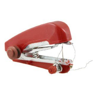 Red Plastic Coated Portable Instant Handheld Sewing Machine