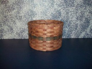 "Amish Handmade Primitive Paper Plate Carrier Holder Basket. Measures 10"" X 10"" X 7"". Amish Country Handwoven Basket Holds Paper Plates Perfectly. This Primitive Basket Adds a Touch of Class to Your Country Buffet. Colors May Vary (Brown, Bla"